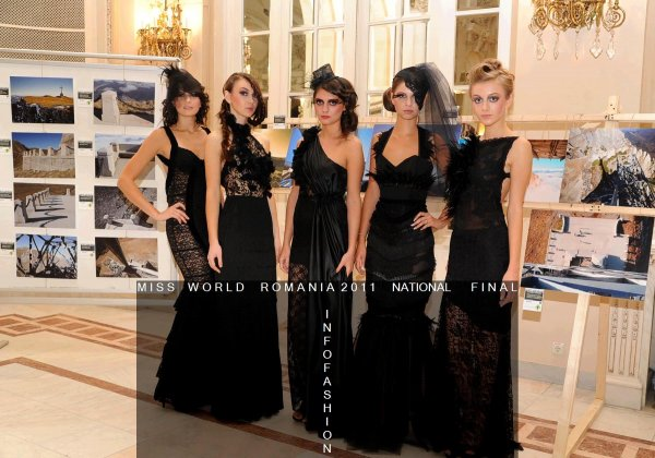 Fashion Designeri Oana Seran Colectia `Black Widow` la Miss World Romania 2011