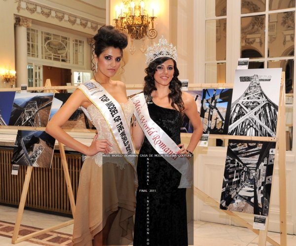 Loredana Salanta- Miss World Romania 2009 si Top Model of The World 2010 si Lavinia Postolache- Miss World Romania 2010 si absolventa New York Film Academy afisand creatii ale designerului Andreea Buzdugan la Miss World Romania 2011