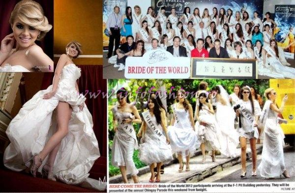 Bride Of The World 2012 in Singapore Debutante Ball with Arts Auction in support of charity (For Romania- Alina Clapa)