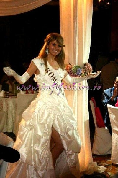 Alina Clapa la Bride of the World 2012 in Singapore Dress by Elite Mariaj for Romania InfoFashion.ro