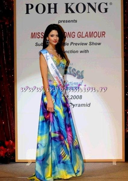 Ioana_Mosneagu 2008 Romania Miss Charm at Miss Tourism International in Malaysia, Dress by Oana Savescu