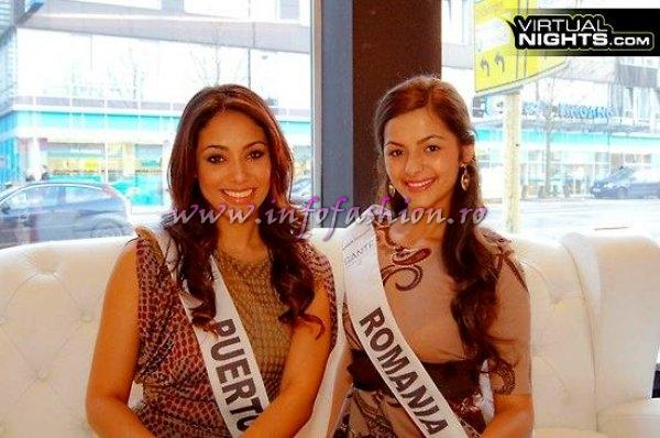 Romania- Alexandra Birsan and Puerto Rico- Nadyalee Torres at 19th Top Model of the World in Germany 2012