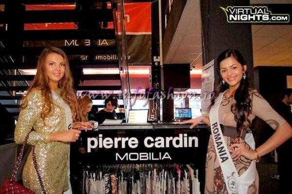 Romania- Alexandra Birsan and Ukraine- Alona Lyashchuk at Top Model of the World in Germany Pierre Cardin Mobilia