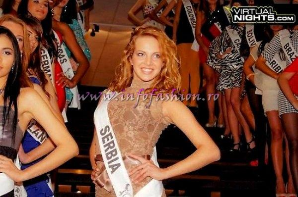 Serbia Jovana Milutinovic at Top Model of the World in Germany 2012