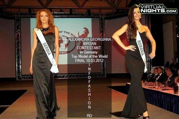 Romania- Alexandra Birsan at 19th Top Model of the World in Germany 2012