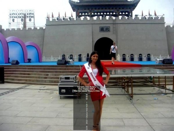 Romania_Oana Burlacu, Miss Wisdom 2009 at Miss International Beauty in China