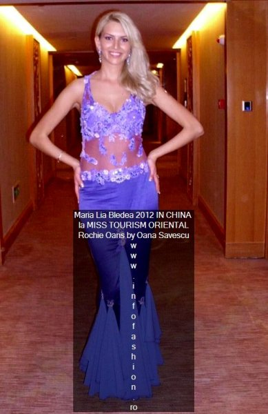 Romania- Maria Lia Bledea la Miss Tourism Oriental 2012 Dress by Oana Savescu