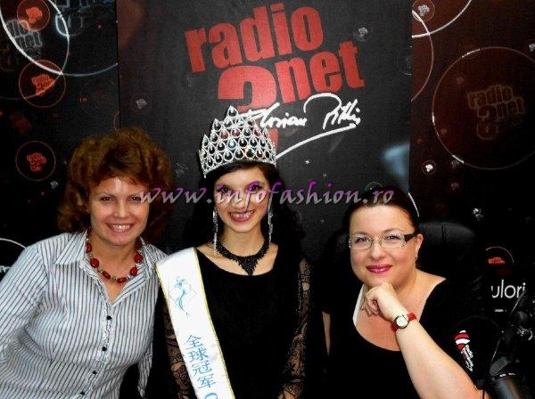 Oana Georgescu, Cristina David si Madalina Ion in Studioul RADIO ROMANIA 3NET FLORIAN PITTIS