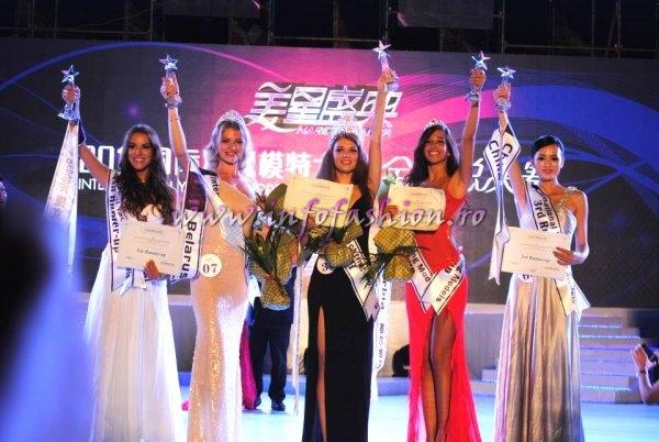China 2012 Miss International Yacht Models Winner Macedonia- Elena Angjelovska. TOP 15- Bianca Goga- InfoFashion Romania