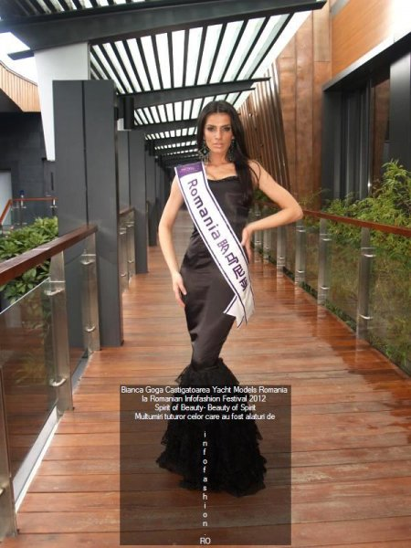 Bianca Goga Romania in TOP 15 la Miss International Yacht Models dupa ce a castigat titlul national la Romanian InfoFashion Festival 2012