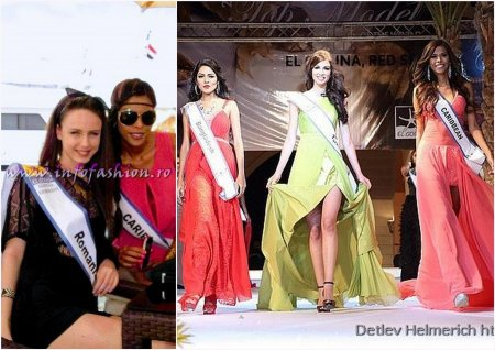 Andreea Raducu (Romania) & Monica Palacios Top Model Caribbean (homebased in Colombia) , the Winner Top Model of the World Final in Egypt, El Gouna, 2013