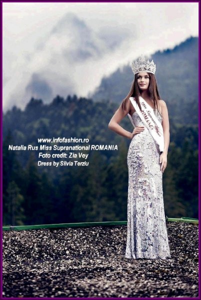 Natalia Rus, Miss Supranational Romania Dress by Silvia Terziu, part of Romanian InfoFashion Festival -Spirit of Beauty, Beauty of Spirit- RIFF