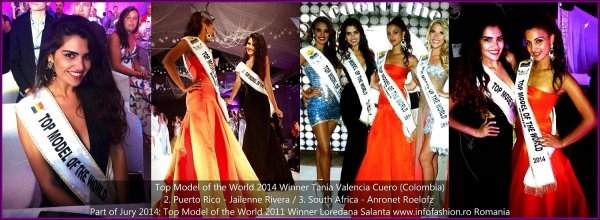 21st TOP MODEL OF THE WORLD 2014 in Egypt, El Gouna, Red Sea, Loredana Salanta, Romania, Title Holder TMOW in Germany 2011, Part of Jury and The Winner, Tania Valencia Cuero, Colombia
