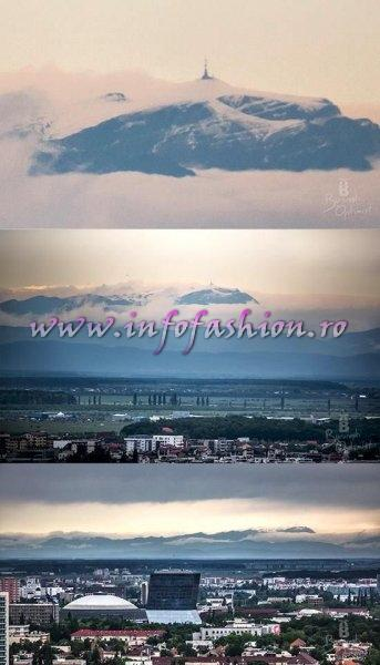 Romania View from Bucharest to Carpatians Mountains Foto Bucuresti optimist Cristian Vasile