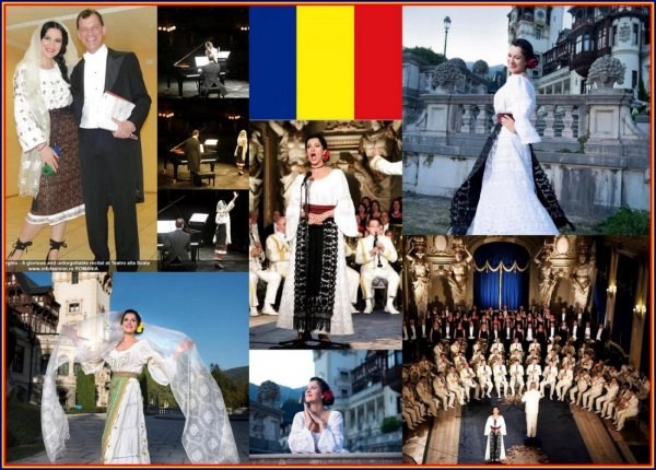 Angela Gheorghiu superstar opera singer, one of the best Romanian Cultural Diversity `Ambassador` wearing national costume