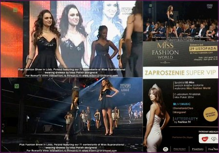 Romania- Elena Zama in Polonia la Ptak Fashion Show in Lodz, Miss Supranational 16.11-05.12., dupa castigarea titlului la Romanian InfoFashion Festival - Spirit of Beauty RIFF ®