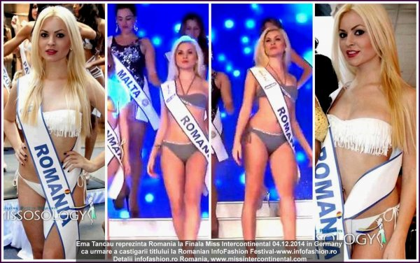 Emanuela Tancau MIC LIVE Stream Finala Miss Intercontinental in Germany, Romanian InfoFashion 04.12.2014