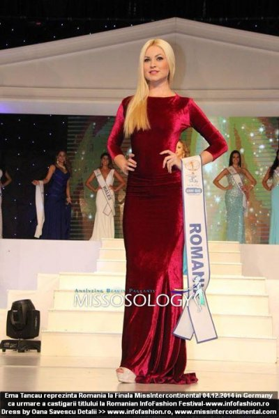 Emanuela_Tancau Romania MIC LIVE Stream Finala Miss Intercontinental in Germany, Dress by Oana Savescu (RIFF) 04.12.2014