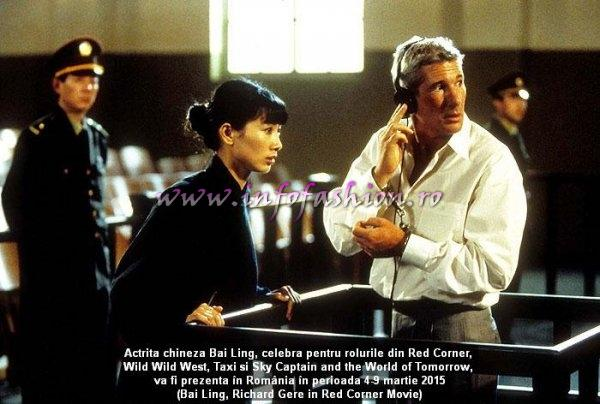 Bai Ling, Richard Gere in `Red Corner` Movie