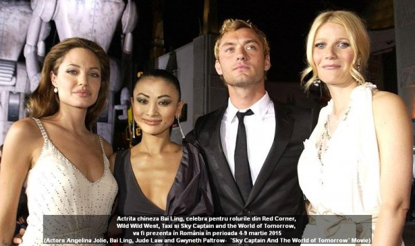 Actors Angelina Jolie, Bai Ling, Jude Law and Gwyneth Paltrow- `Sky Captain And The World of Tomorrow` Movie