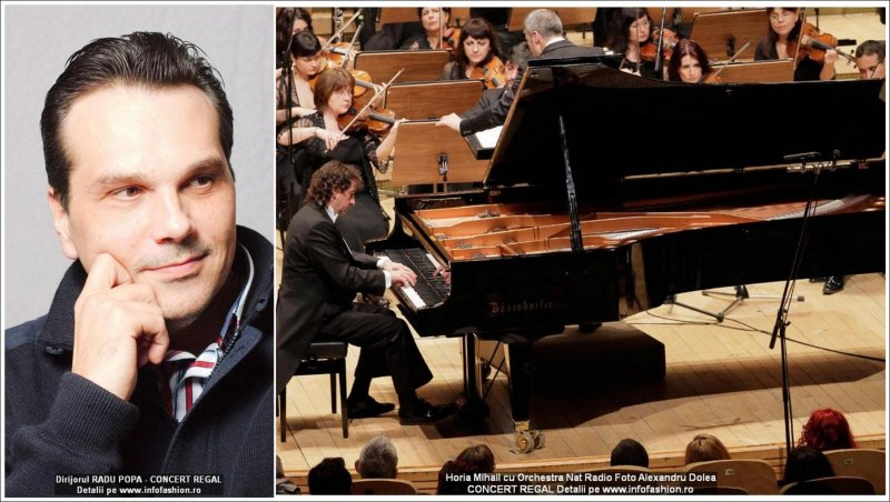 Horia_Mihail pianist si Radu Popa, dirijor in Concert regal la Sala Radio 08.05.2015