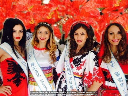 China Miss All Nations 2015 Romania- Diana Albu & Moldova- Angelika Moldovanu in Nanjing