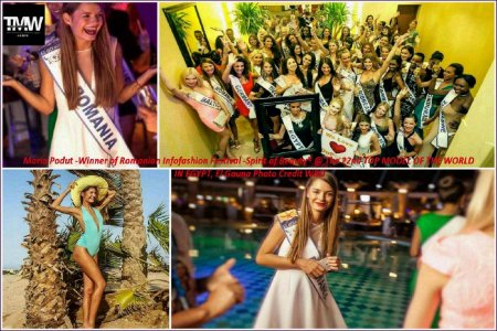 Top_Model of the World 2015 in El Gouna- Egypt, Maria Podut, Winner of Romanian InfoFashion Festival -Spirit of Beauty®