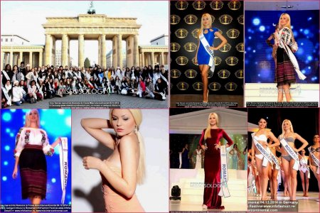Miss_Intercontinental 2014 in Germany Winner Thailand- Patraporn Wang. Emanuela Tancau, delegate of Romanian InfoFashion Festival