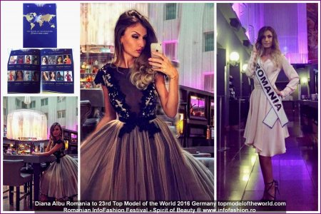 Diana Albu - Romania la Top Model of the World 2016 www.topmodeloftheworld.com Finalista Romanian InfoFashion Festival -Spirit of Beauty®