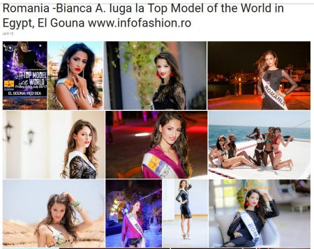 Top_Model of the World 2017 Winners in El Gouna -Red Sea in Egypt. For Romanian InfoFashion Festival- Bianca Iuga