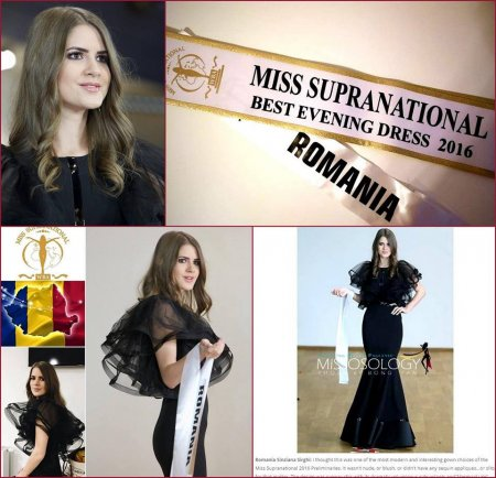 Miss Supranational 2016 Sinziana Sirghi Best Evening Dress in TOP 25 Final Show in Poland, after Romanian InfoFashion Festival