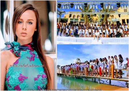 Top_Model of the World in Egypt 2013, Andreea Raducu dupa castigarea titlului national la Romanian InfoFashion Festival