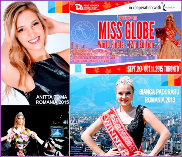 The_Miss Globe 2015 Anitta Toma (Romania & Canada citizen) in Canada Toronto, after Bianca Paduraru, Winner of The Title in 2013
