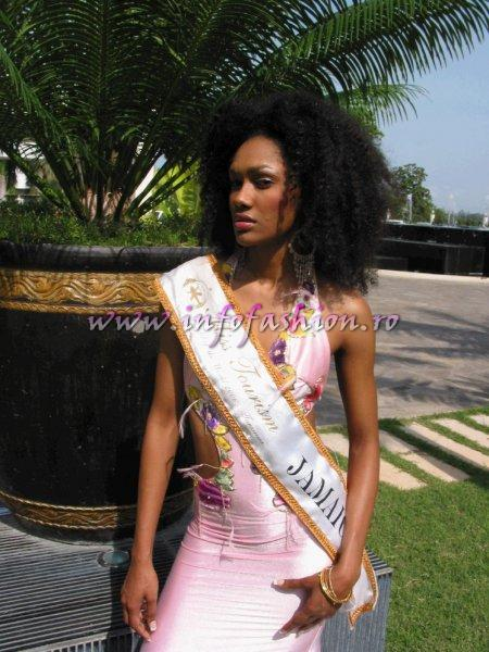 LINDA HUDSON- Jamaica, Miss Tourism Model of the World Americas in Tanzania 2006
