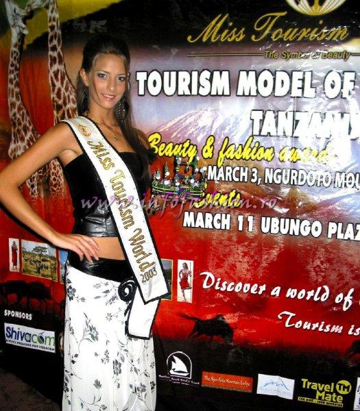 Alina Ciorogariu, Romania introducing the Tanznite`s Crown of Miss Tourism Model of the World 2006