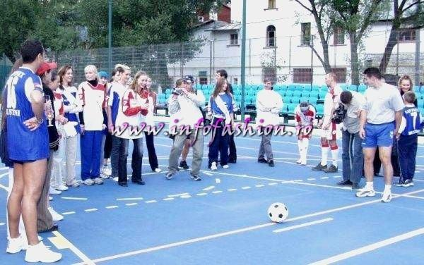 2003-Footbal with Miss Tourism Europe