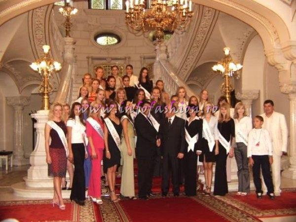 Miss Tourism Europe 2003 Official Visit at Mr. Ion Iliescu, President of Romania (click PRESS)