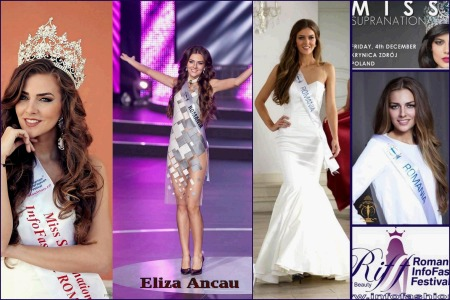 Paraguay- Stephania Vasquez Stegman Winner of Miss Supranational 2015 in Poland. Eliza Ancau (La multi ani 07.08.)- delegate from Romanian InfoFashion Festival Spirit of Beauty®