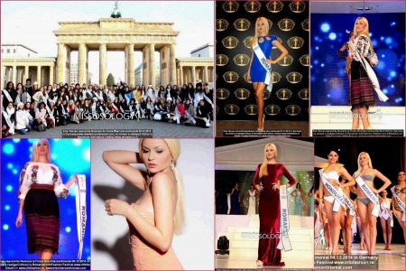 Germany Miss Intercontinental Final: Winner Thailand- Patraporn Wang. Emanuela Tancau, delegate of Romanian Infofashion Festival 2014
